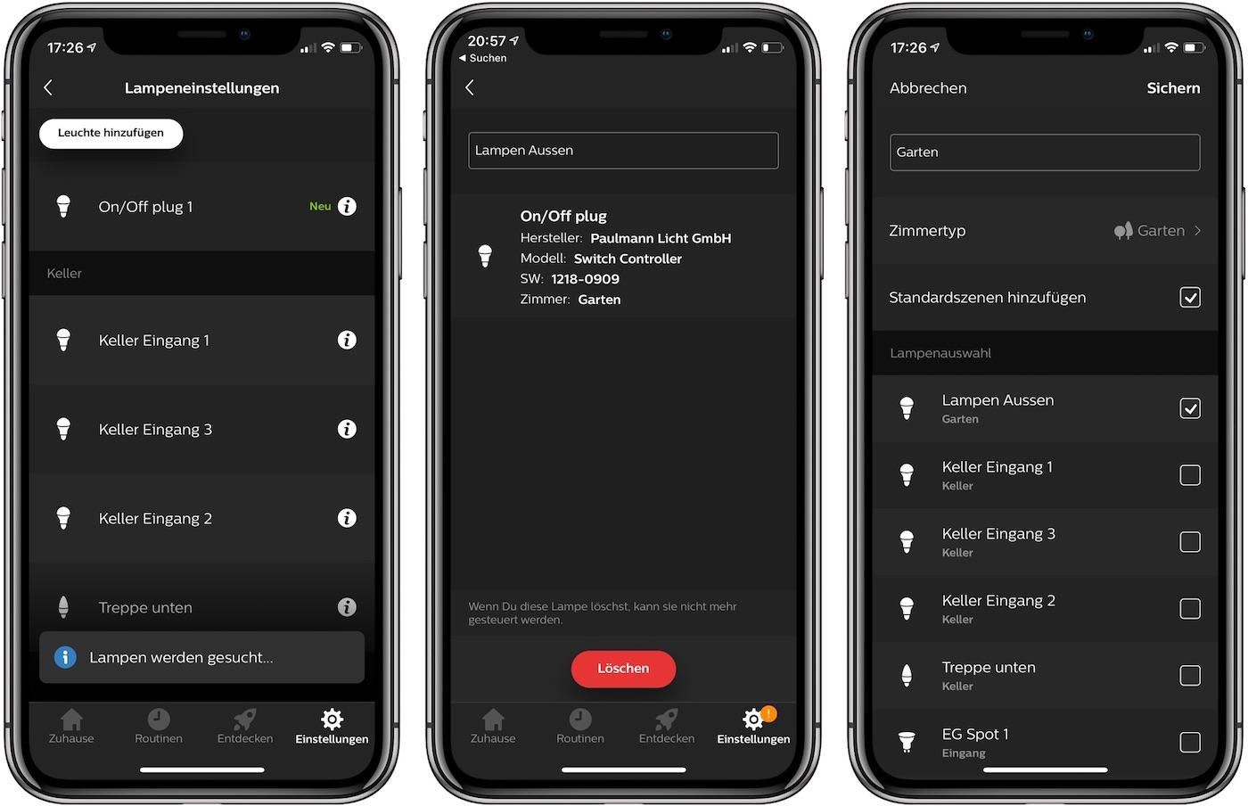 Paulmann Cephei Switch in Hue App hinzufügen