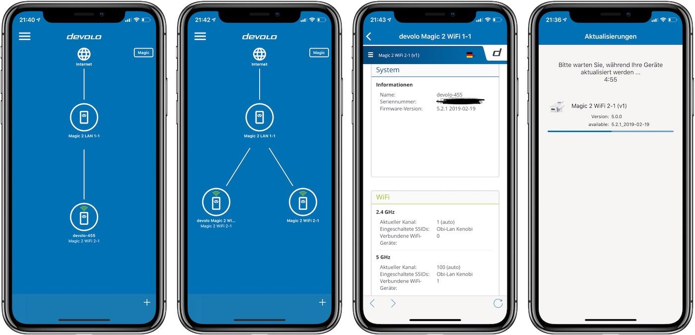 Devolo Home Network App zur Konfiguration von Magic 2