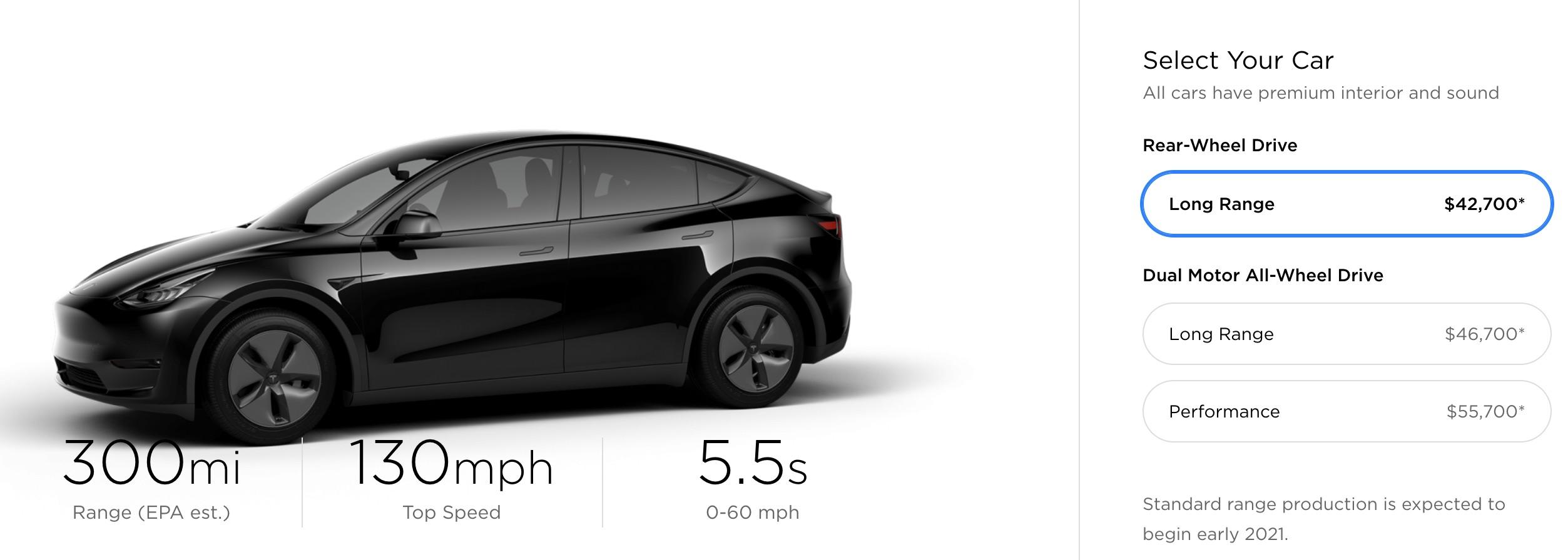 Tesla Model Y Konfigurator