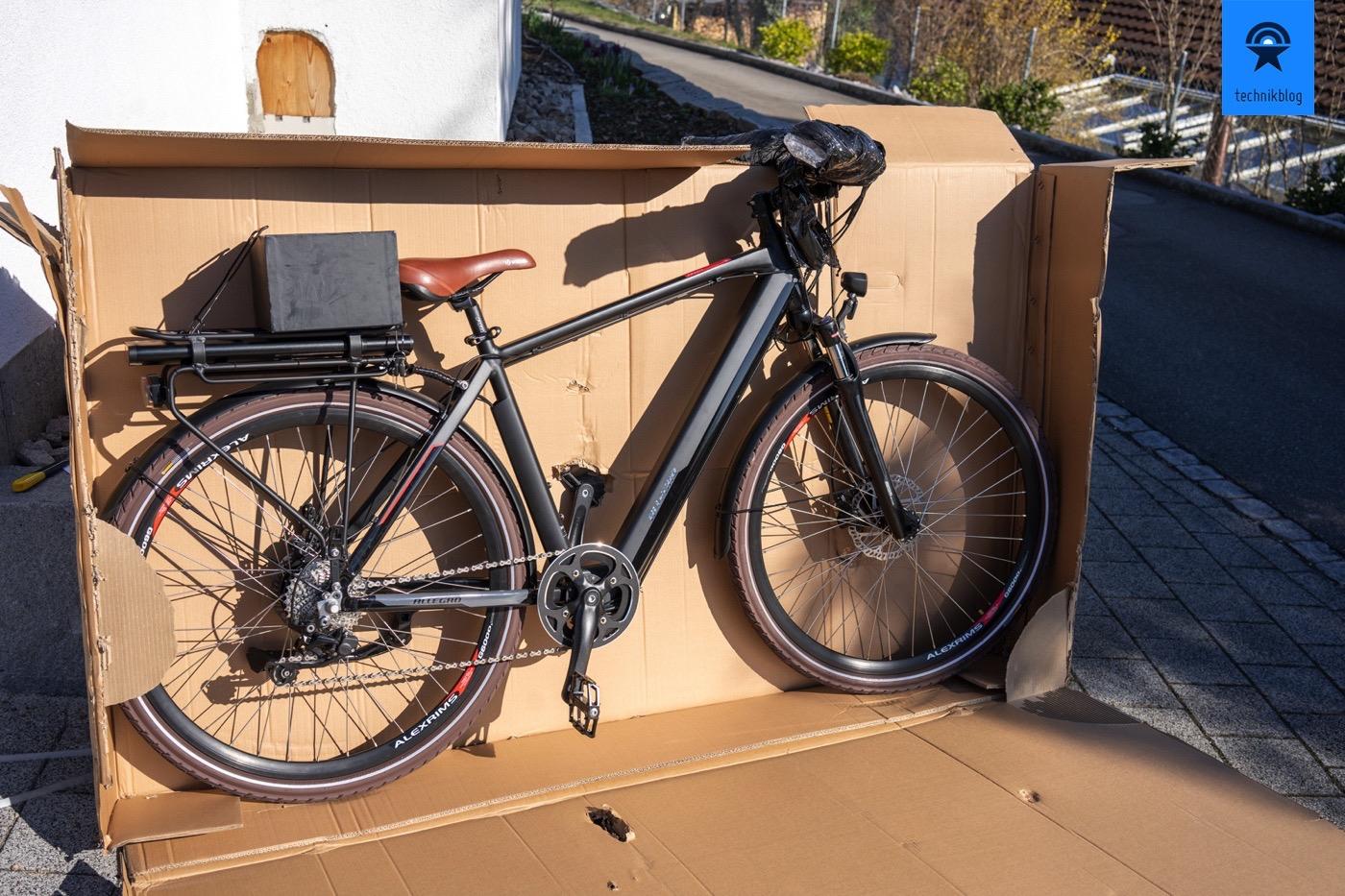Fertig montiertes Allegro E-Bike im Karton