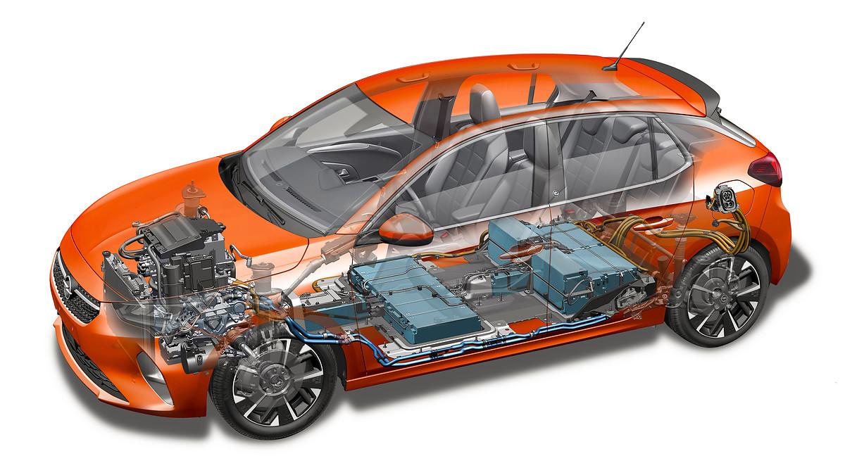Opel Corsa-e mit 50kWh Batterie