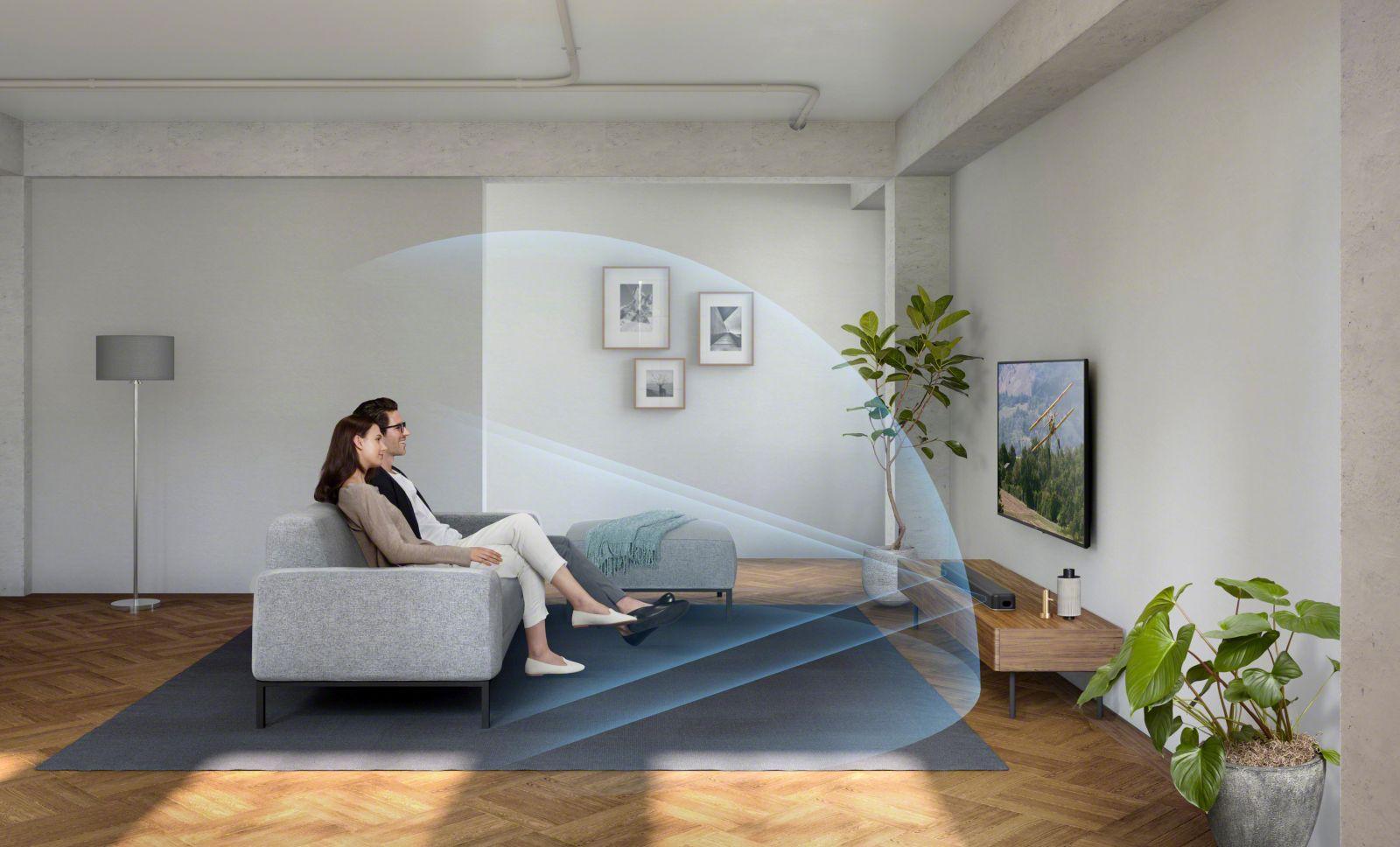 virtueller 7.1.2 Kanal-Sound mit der Sony HT-X8500