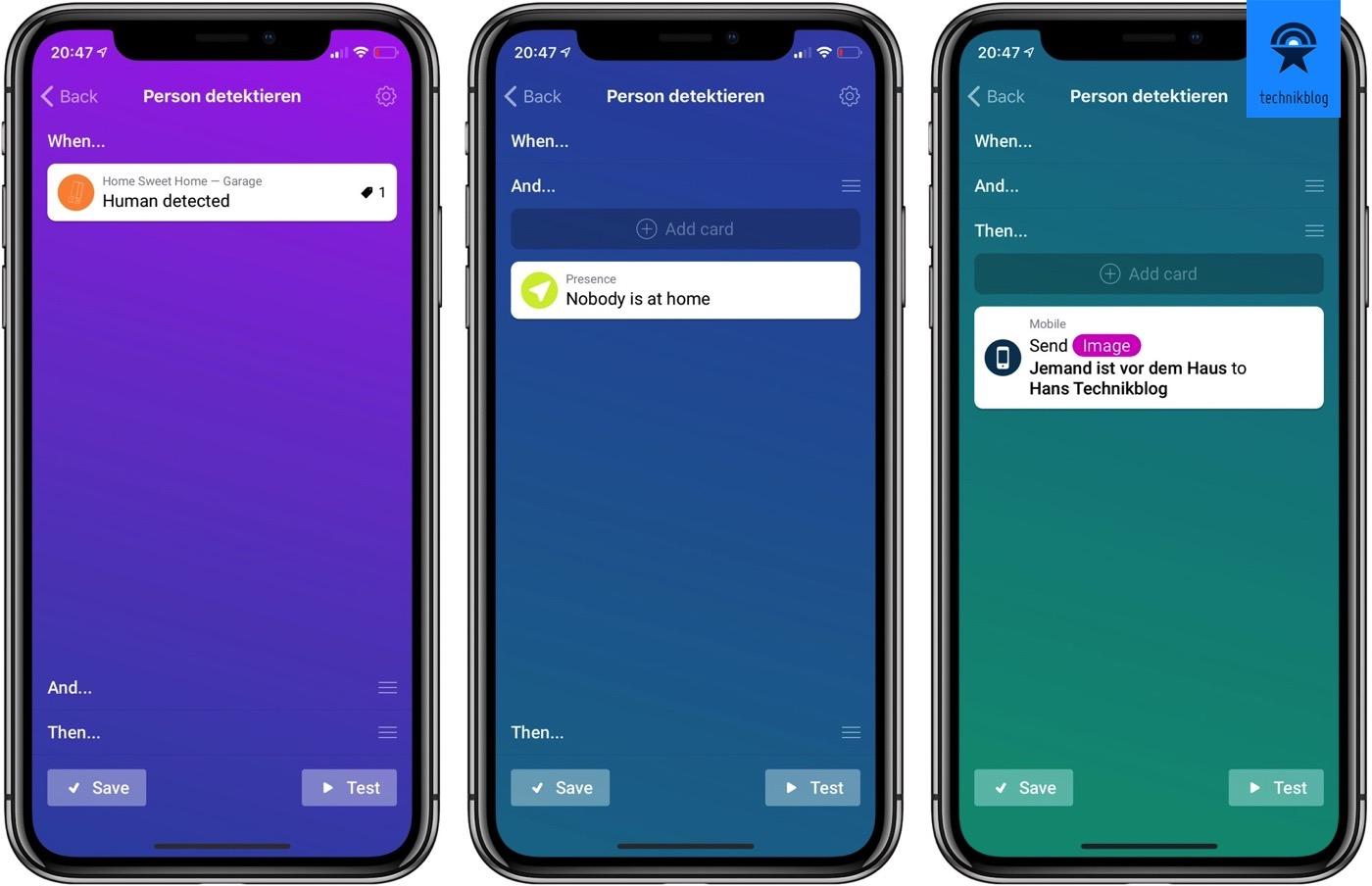 Homey App - Flow erstellen