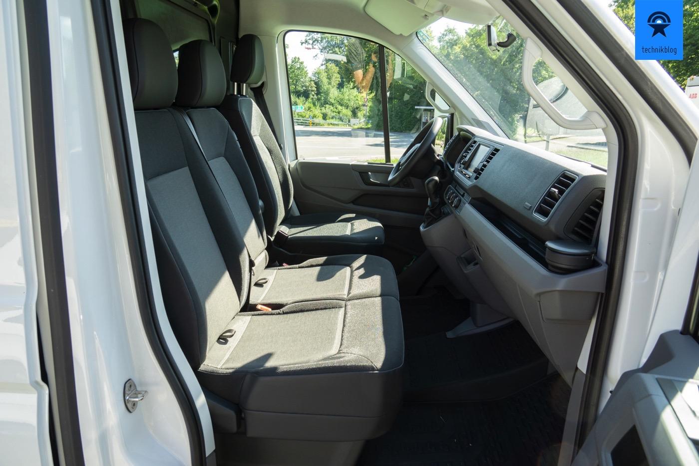 VW e-Crafter mit 3 Sitzen vorne