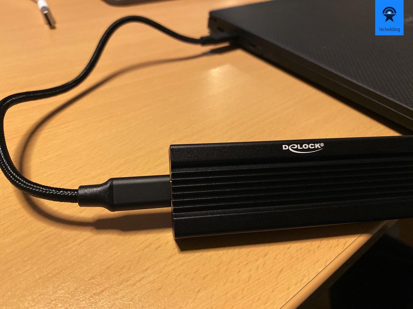 Intel 660P als USB-C Speicher im ExFat Format, passt überall