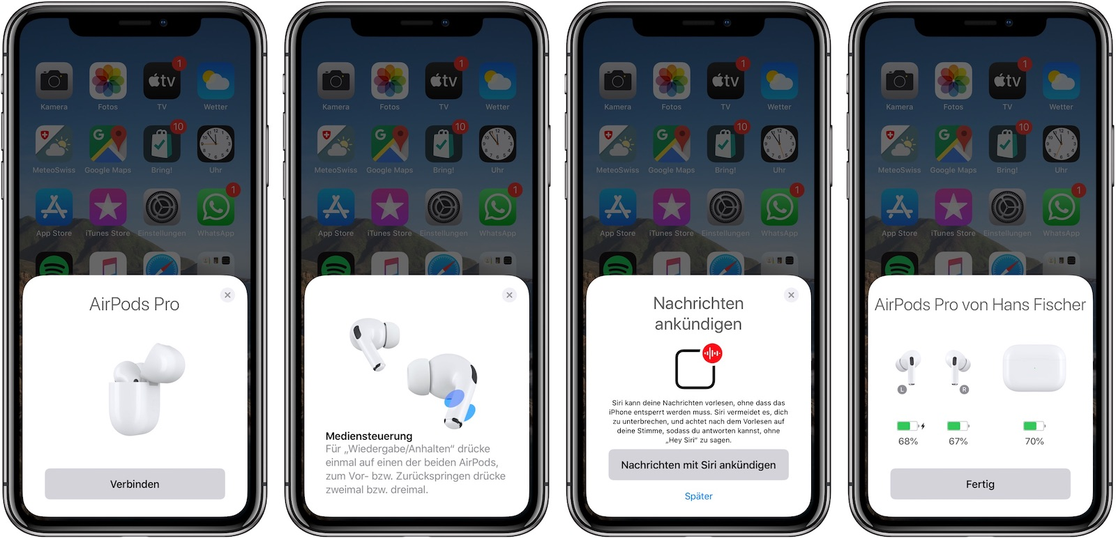 Apple AirPods Pro Kopplung