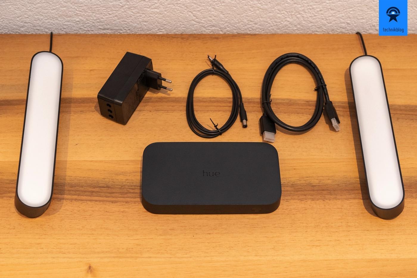 Philips Hue Play HDMI Sync Box: Lieferumfang der Box, Hue Play ist separat