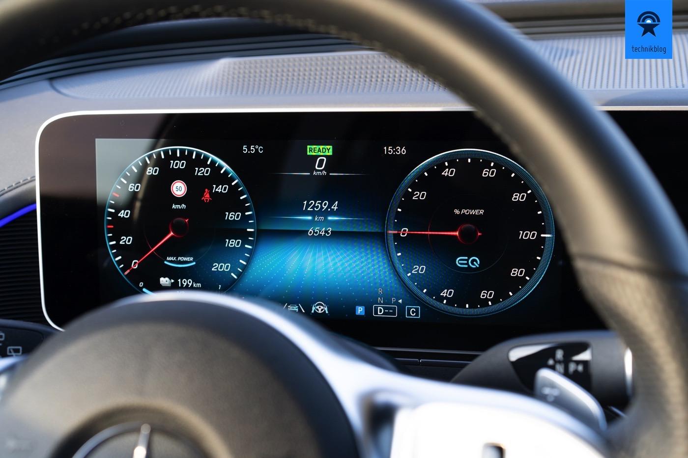 Anzeigeinstrument im Mercedes EQC