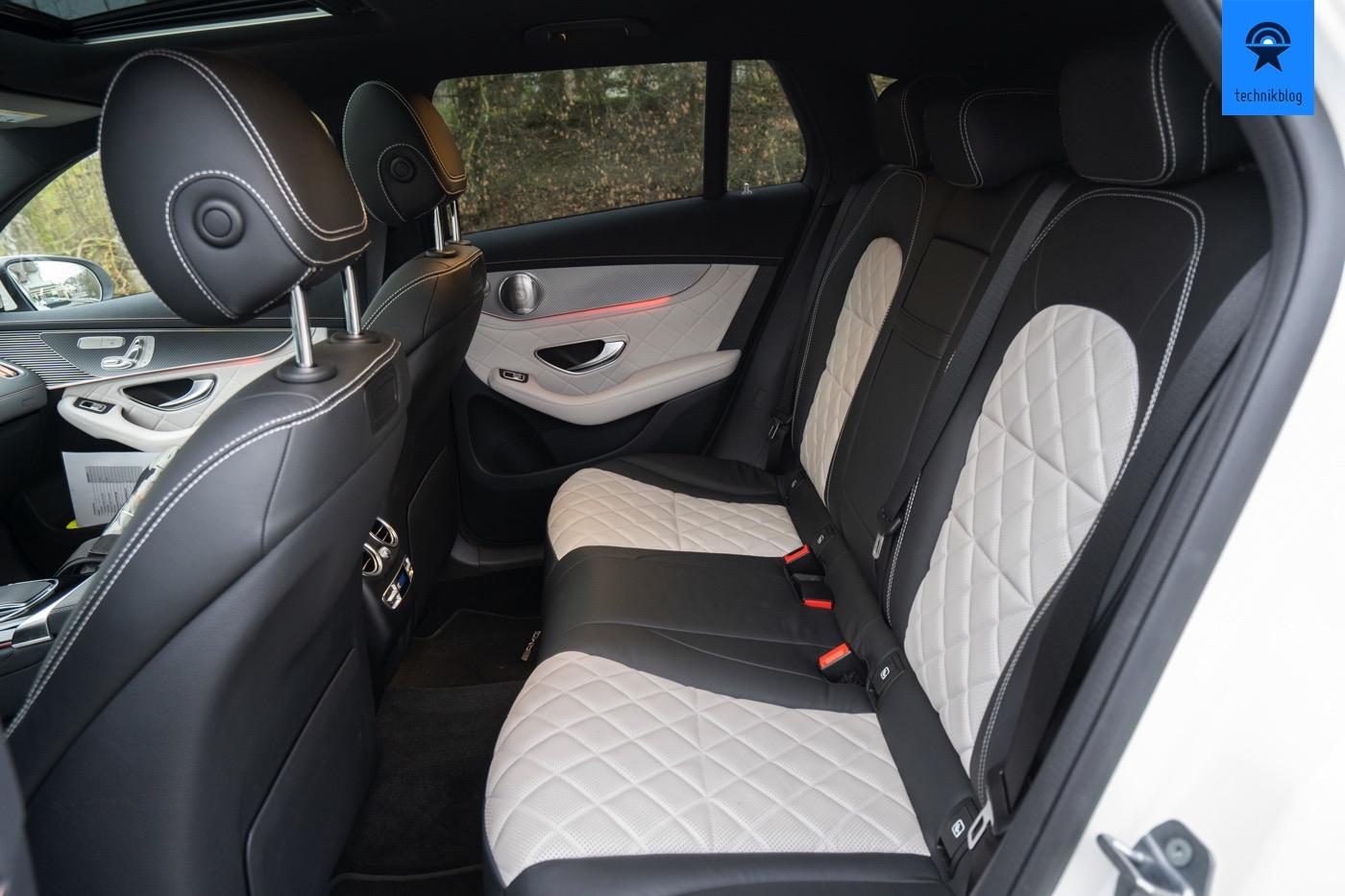 Hintere Sitzreihe des EQC 400