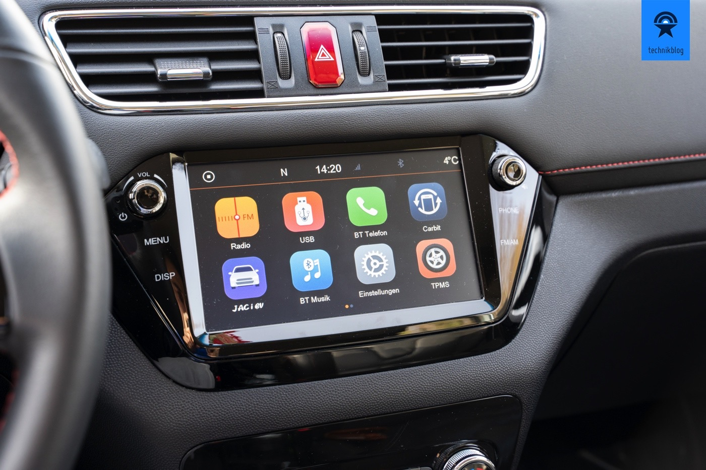 JAC e-S2 Touch-Display