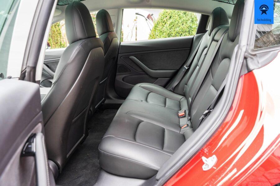 Zweite Sitzreihe im Model 3