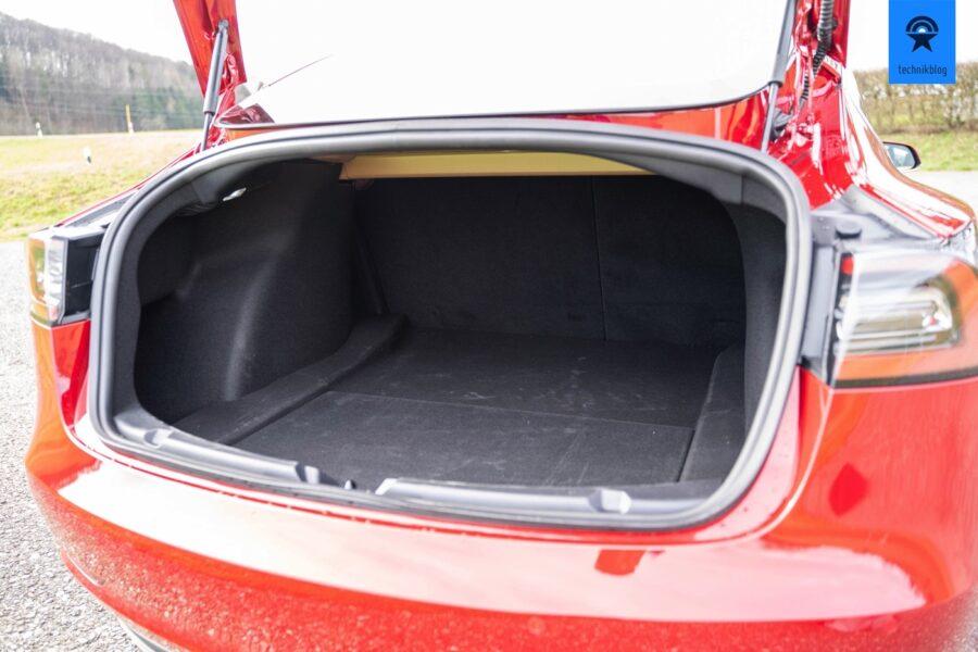 Model 3 Kofferraum