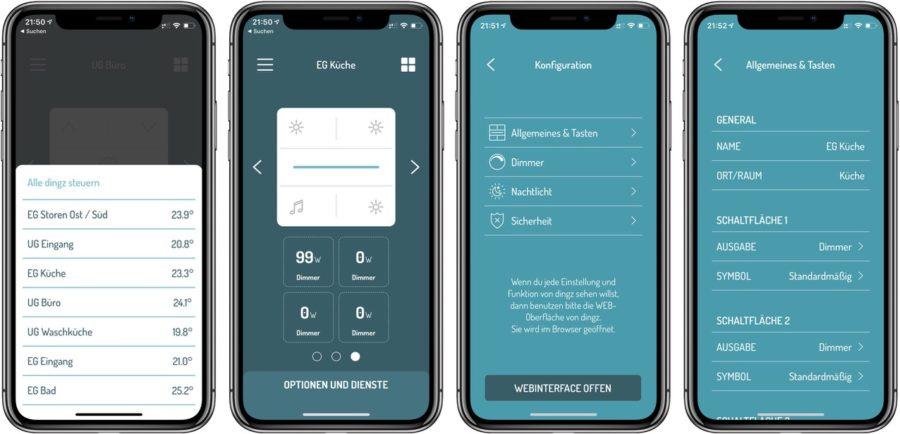 Einrichtung von dingz in der eigenen App