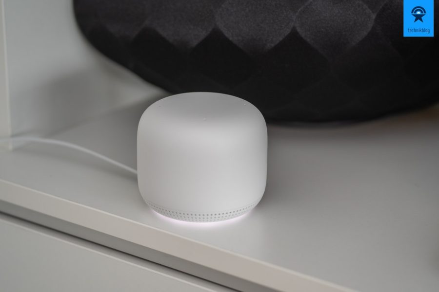 Google Nest WiFi Zugangspunkt per Mesh Technologie