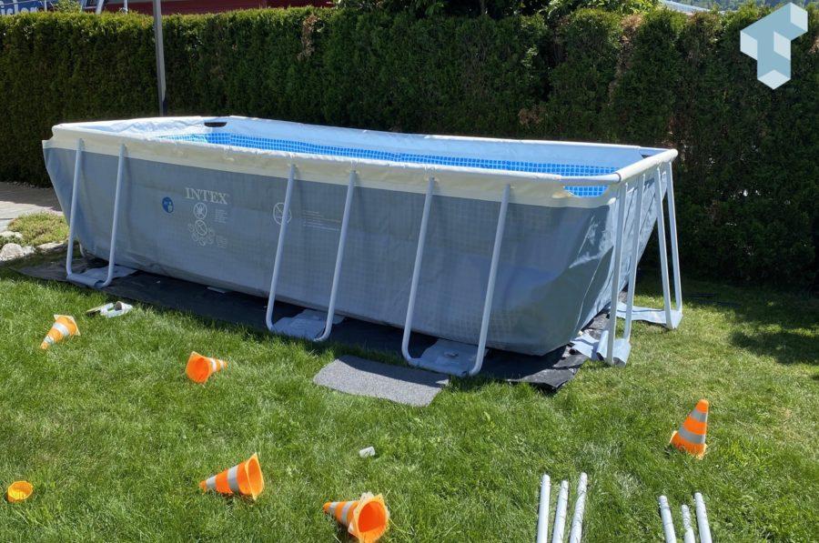 Intex Pool Prism Frame noch ohne Wasser