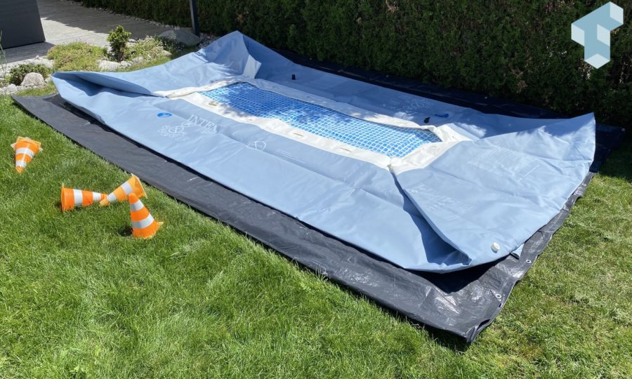 Intex Pool aufstellen