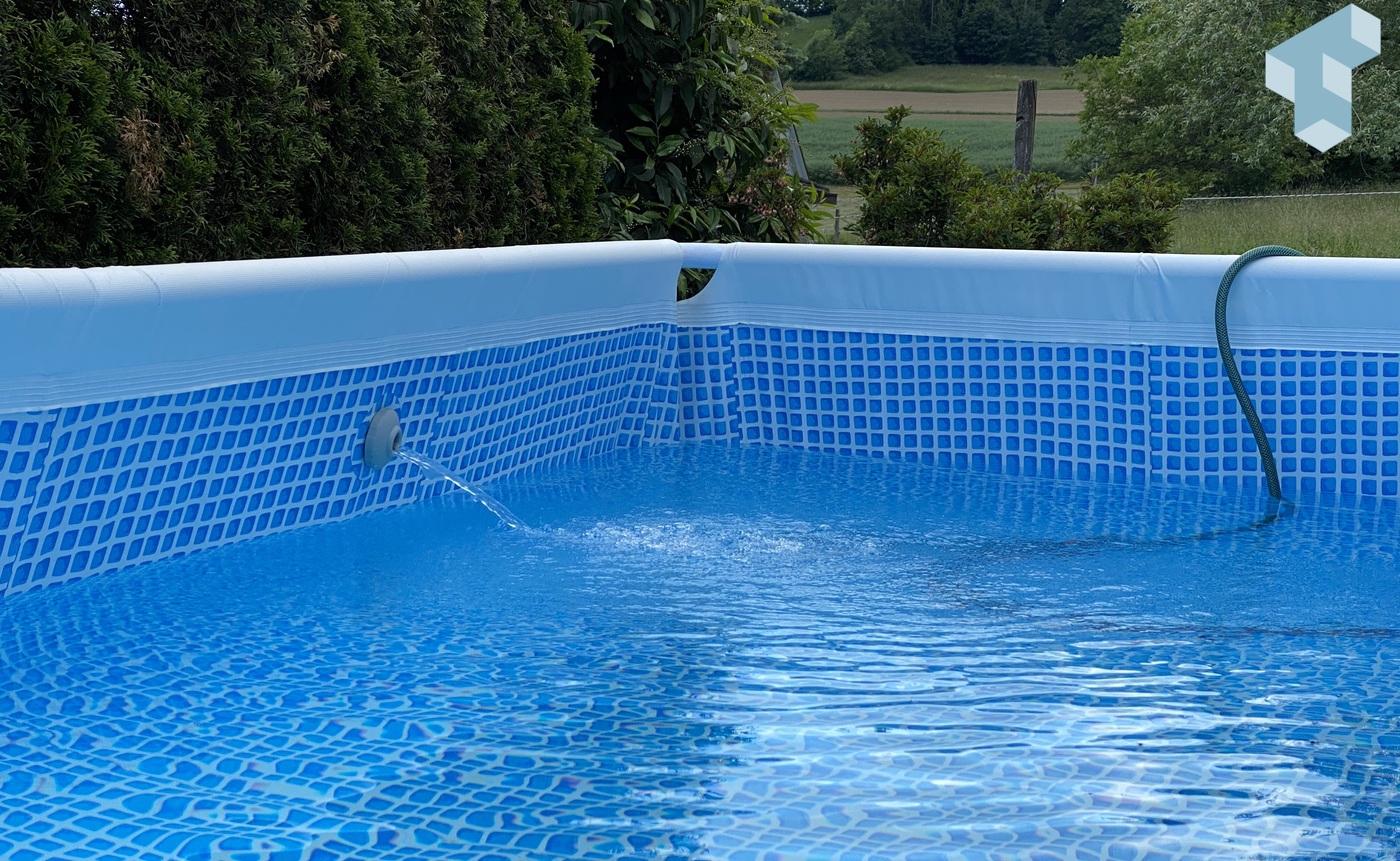 Intex Pool mit Salzwasser System auffüllen
