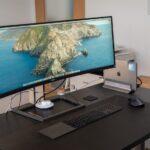 Home Office Setup mit Stehpult