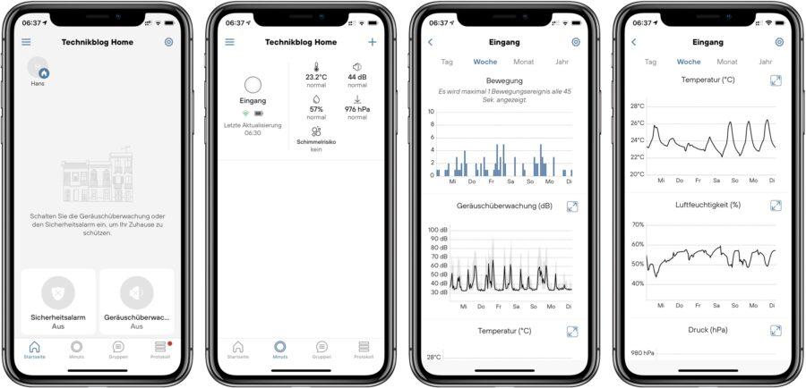 Minut App: Sicherheitsfunktionen und Smart Home Sensoren