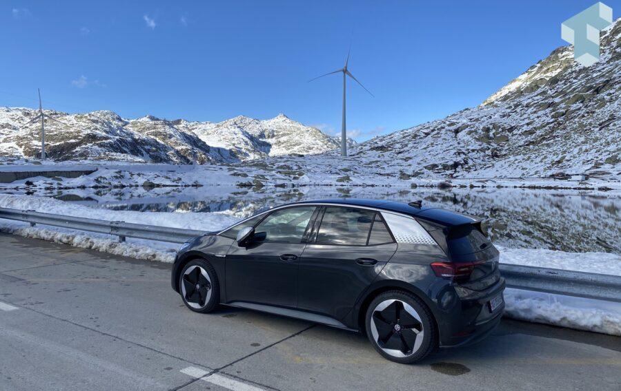 E-Mobility meets Windkraft auf dem Gotthard