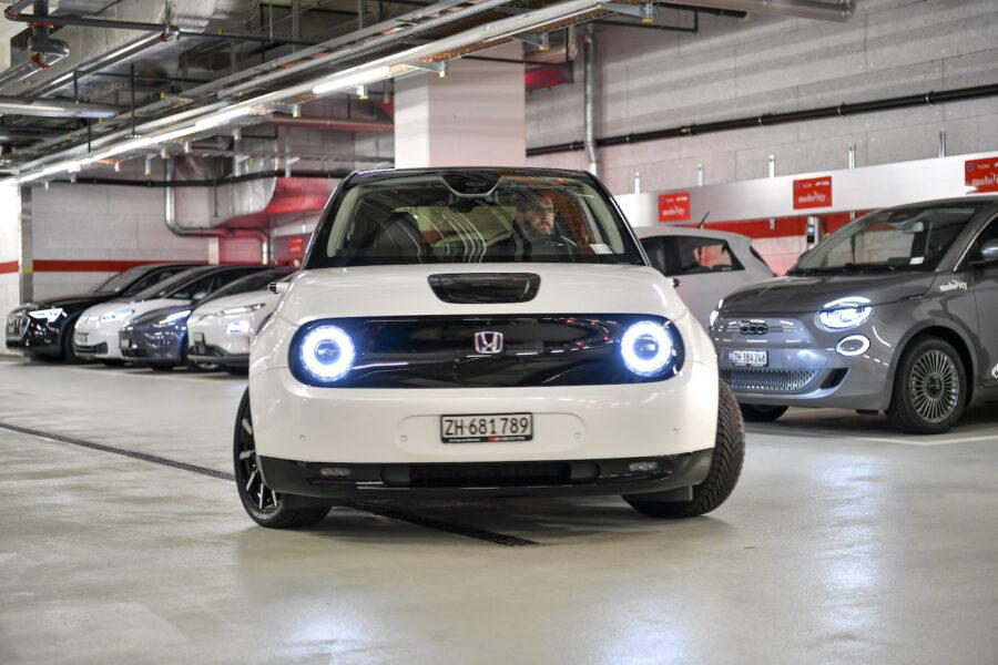 Auch den Honda-e gibt es bei Mobility zu mieten