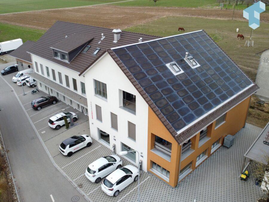 PV auf dem eigenen Dach deckt ein Teil der Energie für die Mobilität