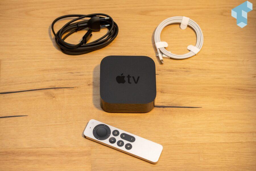 Lieferumfang des neuen Apple TV 4K von 2021
