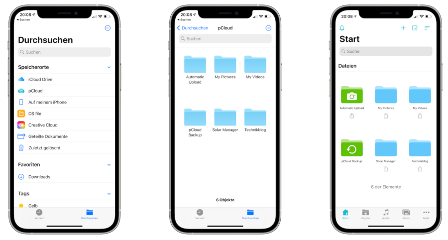 pCloud voll in iOS integriert