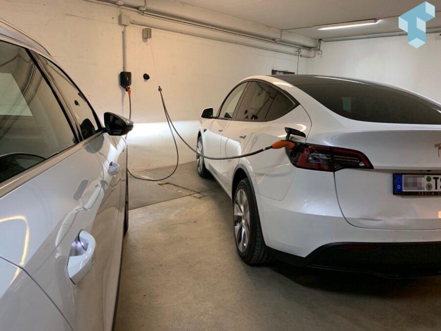Dank dem Technikblog sind wir auch in der Firma jetzt mit einer Clean Charge Kabelhalterung ausgestattet